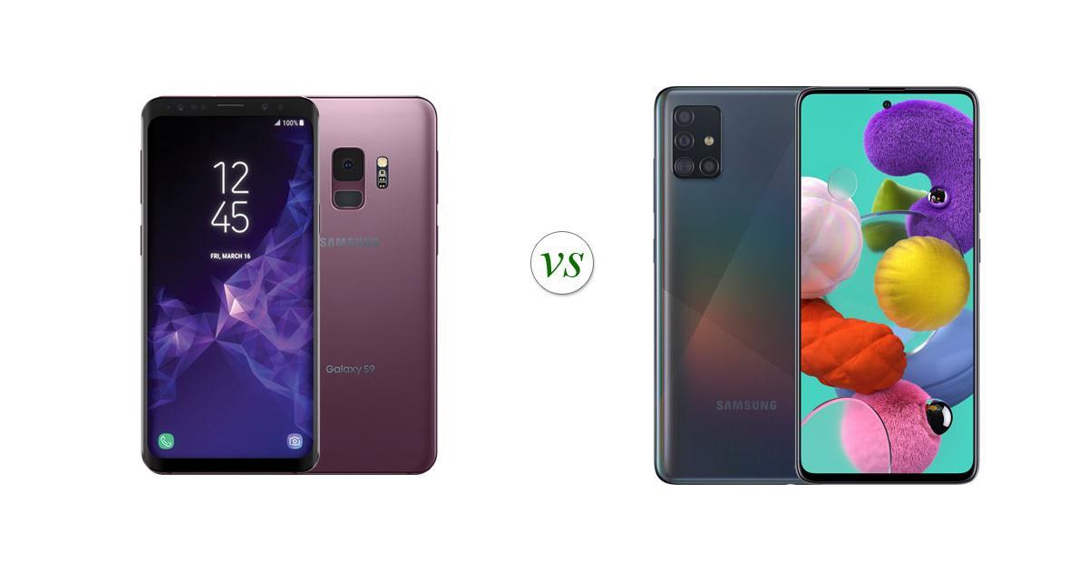 Samsung Galaxy S9 vs Samsung Galaxy A51: Side by Side Specs Comparison