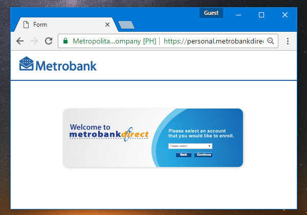 Check ATM balance online using Metrobank's online banking system.