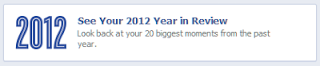 Facebook Year in Review 2012 notice