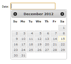 Datepicker Using HTML, CSS, jQuery with Date Trappings