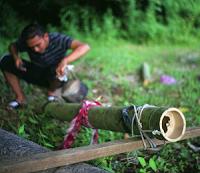 Lantaka or bamboo cannon