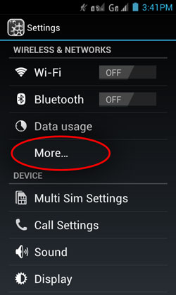 Ice cream sandwich teethering settings wifi hotspot cherry mobile