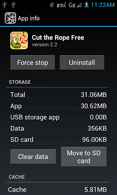 Transfer or Move Apps to SD Card