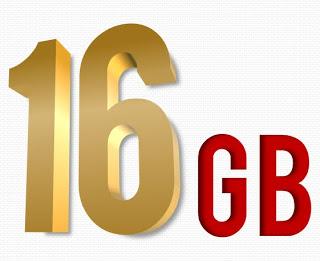 16 GB Internal Storage of MyPhone Iceberg