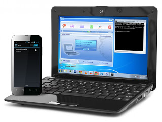 Laptop internet connection shared with an Android phone