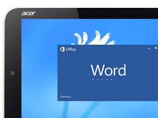 Microsoft Word 2013 on Acer Iconia W3