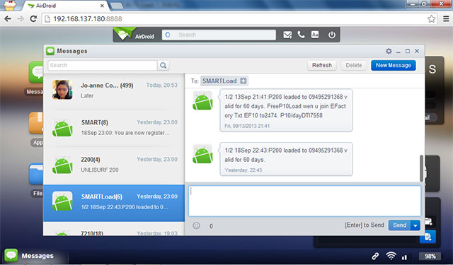 Airdroid Messaging