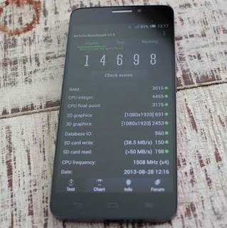 Alcatel One Touch Idol X Antutu Benchmark Score