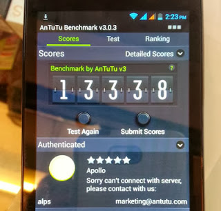 Cherry Mobile Apollo Antutu Score