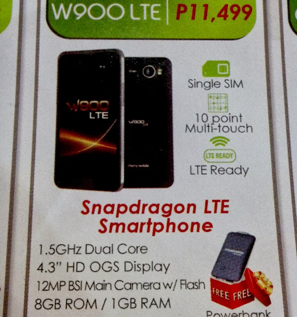 Cherry Mobile W900 LTE - First Ever LTE Capable Smartphone from a Local Brand in the Philippines