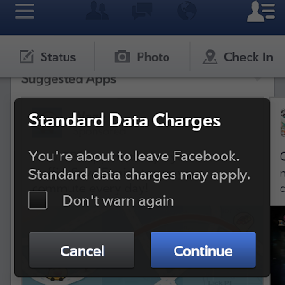Facebook Standard Data Charges Apply