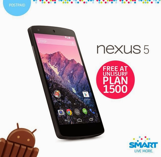 Google Nexus 5 Now Available for Free at Smart Plan 1500