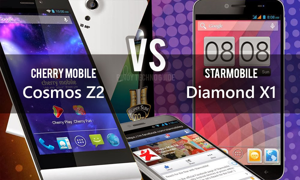 Cherry Mobile Cosmos Z2 vs Starmobile Diamond X1