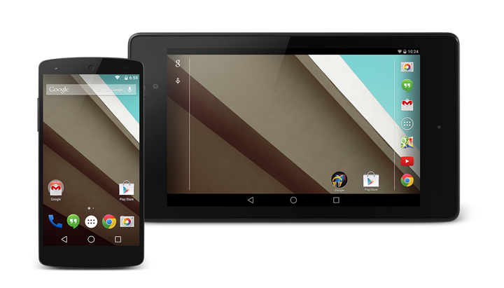 Android L Homescreen