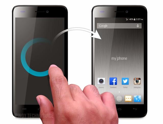 MyPhone Infinity Lite Gesture Shortcuts