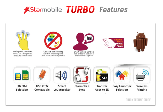 Starmobile Turbo Features