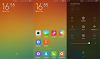 MIUI V6 homescreen, lockscreen and quick settings