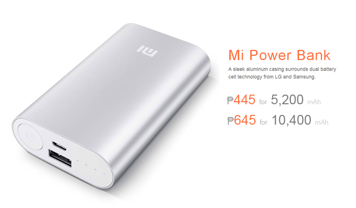 Xiaomi Offers 5200mAh Mi Powerbank for ₱445 and 10400mAh