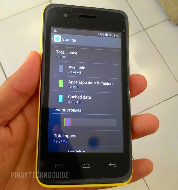 MyPhone Rio Craze Internal Storage