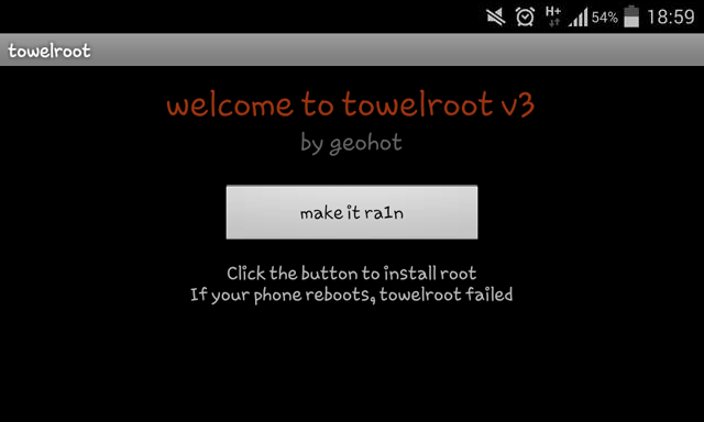 Towelroot root Android 4.4 Kitkat