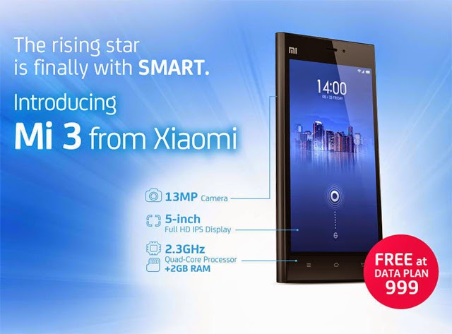 Xiaomi Mi 3 Now Available on Smart Postpaid Plans