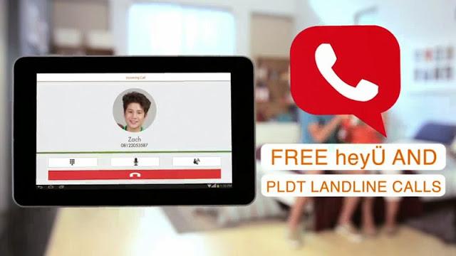 PLDT heyÜ App call PLDT landline