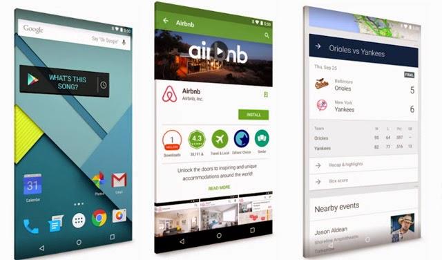Android 5.0 Lollipop Material Design