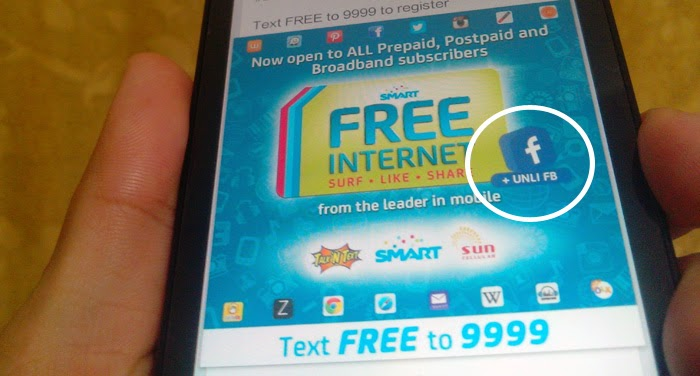 Smart Adds Unlimited Facebook to FREE INTERNET Promo
