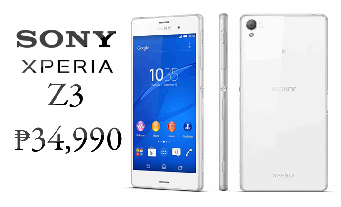 Sony Xperia Z3 Officially Priced at ₱34,990 in the ...