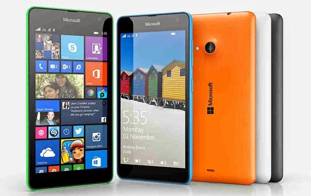 Microsoft Lumia 535 available colors