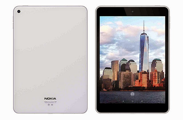 Nokia N1 tablet front and back