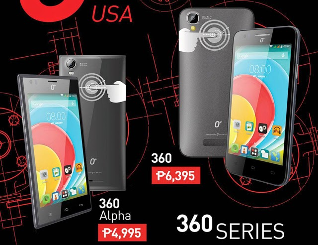 O+ USA 360 Series Smartphones with Touch Panel at the Back