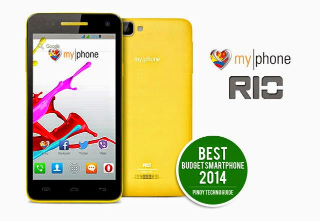 Best Budget Smartphone 2014 MyPhone Rio