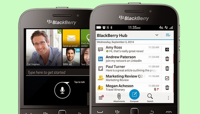 Blackberry Hub and Assistant on Blackberry Classic