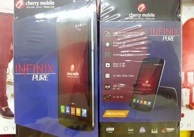 Cherry Mobile Infinix Pure box