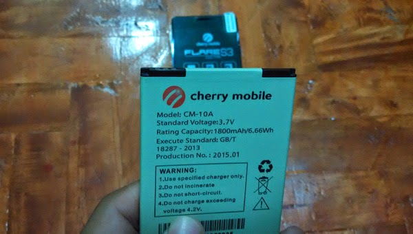 Cherry Mobile Flare S3 Octa battery