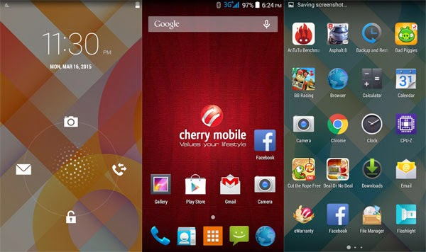 Cherry Mobile Me Vibe user interface