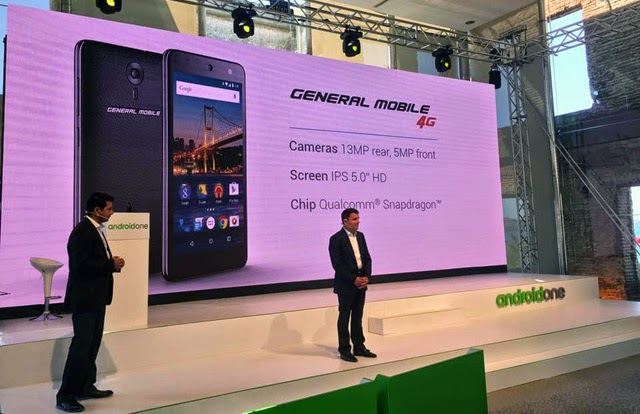 General Mobile 4G Android One launch event with CEO