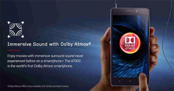 Lenovo A7000 with Dolby ATMOS