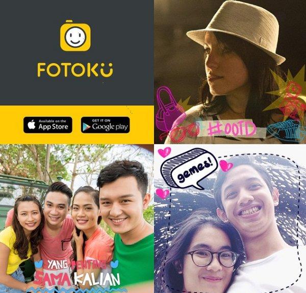 Sample selfies from Fotoku