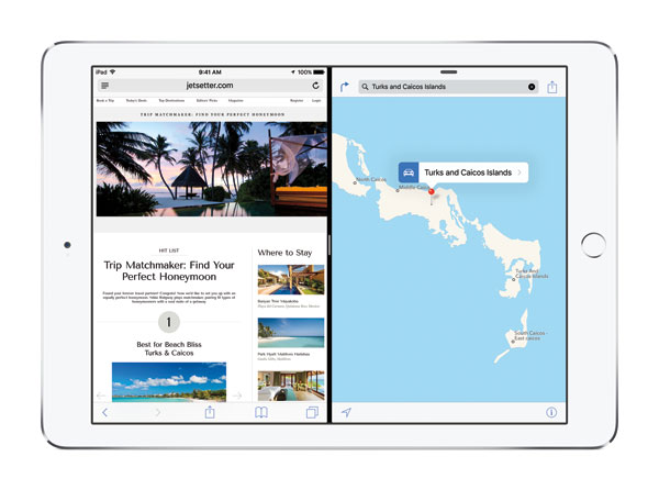 iOS 9 Split View Multi-tasking on iPad