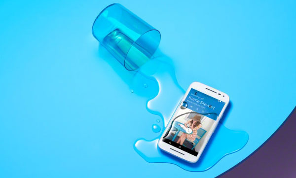 Motorola Moto G (3rd Gen.) water resistant