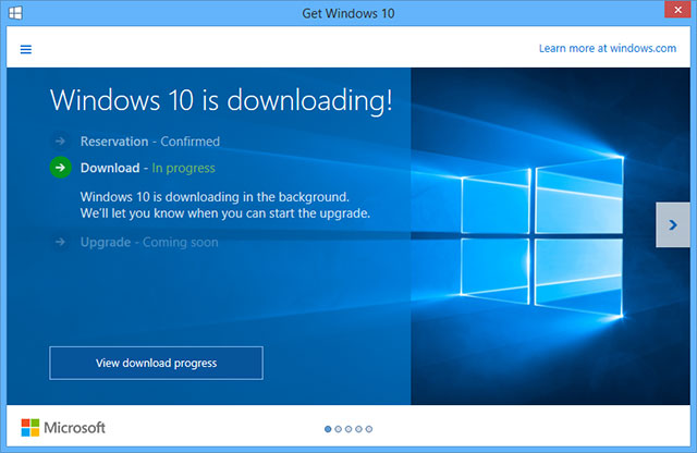 Windows 10 downloading