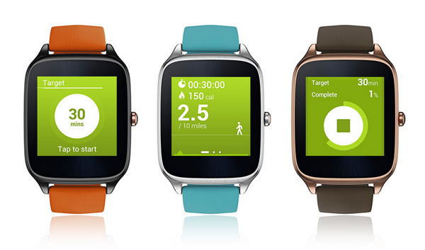 ASUS ZenWatch 2 health and fitness