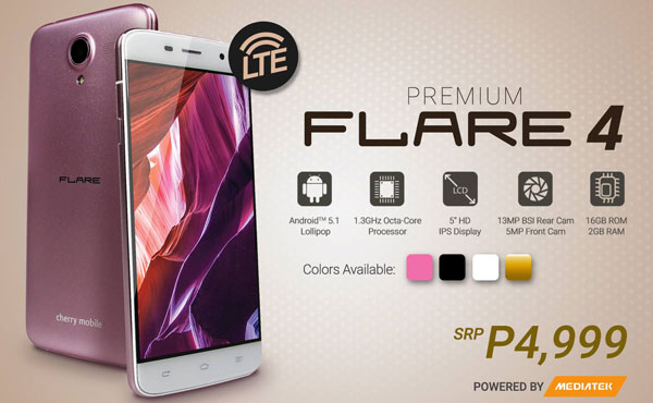 Cherry Mobile Flare 4 in pink