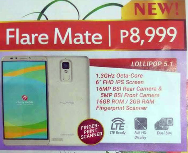 Cherry-Mobile-Flare-Mate-Leaked-Specs