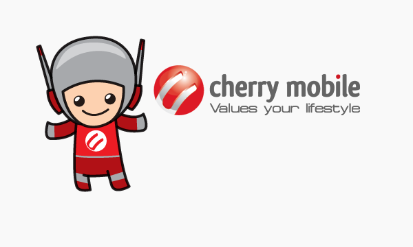 Cherry Mobile with mascot