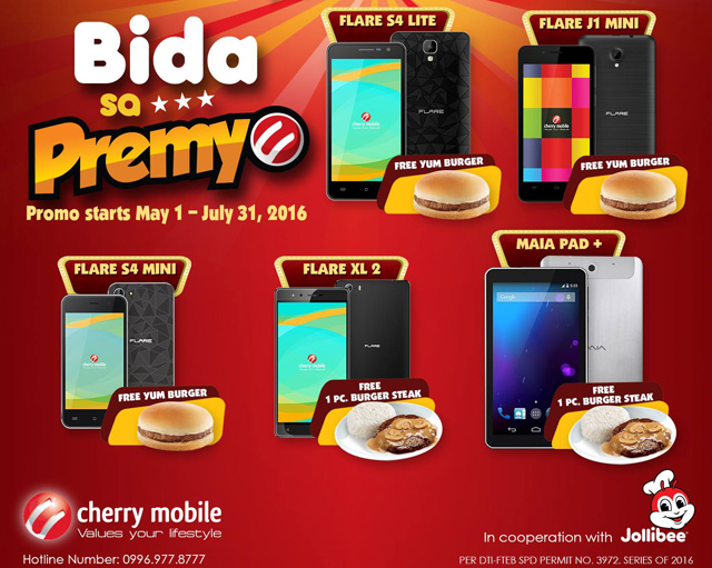 FREE Yum Burger for a Cherry Mobile Smartphone