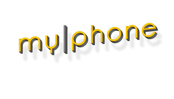 my|phone logo 3d