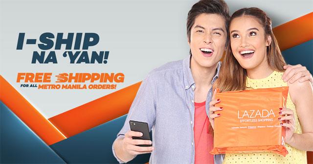 Lazada free shipping Metro Manila
